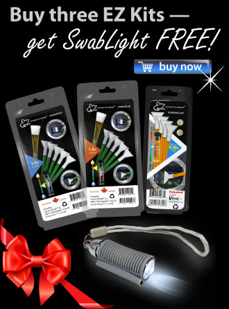 Buy three EZ Kits — get SwabLight FREE!
